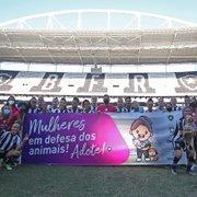 Brasileiro Feminino: Botafogo e São José participam de campanha para incentivar adoção de animais