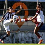 Futebol feminino: Botafogo sai na frente, mas fica no empate com o Flamengo na Gávea