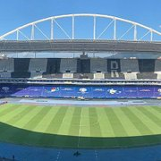 Copa América: Conmebol cobre escudos do Botafogo na arquibancada do Estádio Nilton Santos para Argentina x Chile