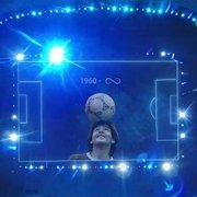 Homenagem a Maradona no estádio do Botafogo recebe elogios na TV: 'Absolutamente espetacular, linda e bem feita'