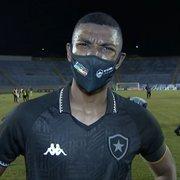 Kanu lamenta gol sofrido pelo Botafogo no fim: 'Com 43 minutos não tem mais jogo'