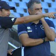 Chamusca aponta evolução no Botafogo e cita defeito: 'Precisamos ser mais efetivos'