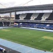 Estádio Nilton Santos passa por reparos no gramado para receber mais um jogo do Brasil na Copa América