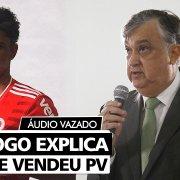 Presidente do Botafogo, sobre venda de PV ao Internacional: 'Se a gente não pagar salários, perco jogador de qualquer maneira'