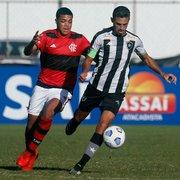 Base: Botafogo é derrotado pelo Flamengo no fim e perde invencibilidade no Brasileiro Sub-20