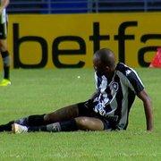 Botafogo: ressonância não aponta lesão, e Chay faz tratamento na coxa para voltar a jogar