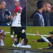 Brusque x Botafogo termina em confusão, e Freeland, Kanu e Diego Loureiro precisam ser contidos