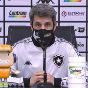 Freeland cita inconformismo geral no Botafogo, reforça confiança no acesso e pede apoio da torcida: 'Acreditem junto com a gente'