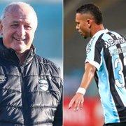 Emprestado pelo Botafogo e contestado pela torcida do Grêmio, Luiz Fernando ganha confiança de Felipão