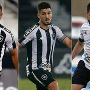Marcinho, Felipe Ferreira e Ricardinho ainda não atuaram pelo Botafogo após saída de Chamusca