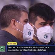 Cotado no Botafogo, Marcelo Cabo vai ao Nilton Santos com máscara do Goiás, com o qual está acertado