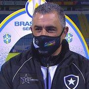 Chamusca vê Botafogo perto da primeira vitória fora de casa após empate com Avaí: 'Estamos jogando bem'