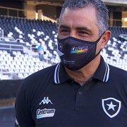 Chamusca quer usar semana cheia para corrigir falhas do Botafogo e fala em reforço para a zaga: 'Devemos ter novidades'