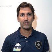 Interino reforça confiança no elenco do Botafogo: 'Percebi um grupo incomodado, querendo melhorar'