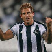 Sem Navarro, Rafael Moura deve ganhar primeira chance como titular desde que chegou ao Botafogo