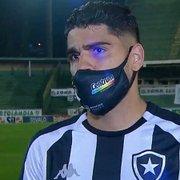 Daniel Borges diz que Botafogo poderia ter vencido Guarani, mas valoriza empate: 'Ponto que pode fazer diferença'
