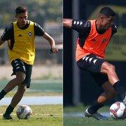 Destaques do sub-20, Juninho e Vitinho treinam com a equipe profissional do Botafogo