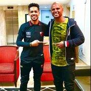 Jefferson reencontra Luis Ricardo e elogia: 'Você será sempre lembrado no nosso Botafogo'