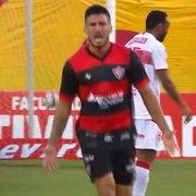 Emprestado pelo Botafogo, Marcinho faz golaço pelo Vitória e impede CRB de assumir a liderança