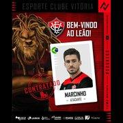 Sem espaço no Botafogo, Marcinho é oficializado como reforço do Vitória