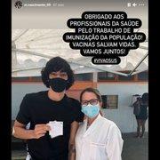 Joia da base do Botafogo, Matheus Nascimento é vacinado contra a Covid-19: 'Vacinas salvam vidas'