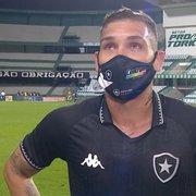 Rafael Navarro, sobre especulações para deixar o Botafogo: 'Estou com a cabeça dentro de campo'