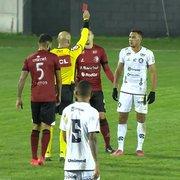 Sem chances de Lei do Ex: Renan Gorne é expulso em empate do Remo e não pega o Botafogo na próxima rodada