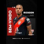 Ex-Botafogo, volante Rickson é anunciado como reforço pelo Atlético-GO