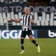 Recado? Após gritos de 'fica' da torcida do Botafogo, Rafael Navarro celebra gol e posta versículo da Bíblia