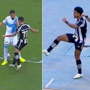 VÍDEO: Marco Antônio dá linda caneta, e jogadores do Botafogo fazem 'Dancinha do Gordin' em goleada
