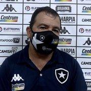 Enderson lembra maratona e vê oscilação do Botafogo com tranquilidade: 'O que aconteceu com a gente foi ponto fora da curva'