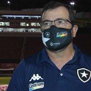 Enderson explica escalação de Jonathan Lemos e admite queda do Botafogo no segundo tempo em Salvador