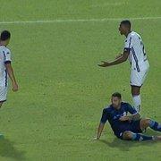 Kanu e Warley recebem terceiro cartão amarelo e desfalcam Botafogo contra o Sampaio Corrêa