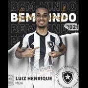 Botafogo anuncia contratação de Luiz Henrique, emprestado pelo Fortaleza, e confirma Carlinhos