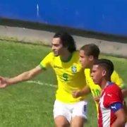 Matheus Nascimento, do Botafogo, marca em vitória do Brasil sub-17 sobre o Paraguai