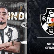 No mesmo minuto: Botafogo anuncia Rafael, enquanto Vasco comunica saída de Lisca
