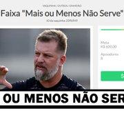 Inspirados em frase de preparador físico, torcedores do Botafogo divulgam vaquinha para fazer faixa 'Mais ou menos não serve'