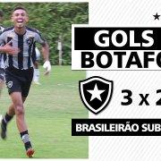 VÍDEO | Juninho pede passagem e comanda vitória do sub-20 do Botafogo sobre o Atlético-MG; veja os gols
