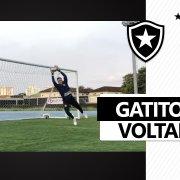 Gatito Fernández segue em evolução e treina com bola no Botafogo 😼⚽