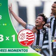 VÍDEO: Gols e melhores momentos da vitória de virada do Botafogo sobre o Náutico