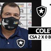 VÍDEO - Enderson pede apoio a Diego Loureiro e prega cautela sobre retorno de Gatito ao Botafogo: 'Não podemos ter pressa'