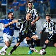 Empate com Cruzeiro faz Botafogo aumentar chances de acesso para 83%, diz matemático