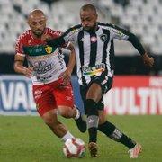 Mesmo sem marcar, Chay se destaca e é fundamental em vitória do Botafogo sobre o Brusque