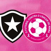 Outubro Rosa: Botafogo realizará ações visando o combate ao câncer de mama nesta quarta