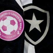Botafogo terá patch especial na camisa contra o Brusque e até bandeirinha em alusão à campanha Outubro Rosa