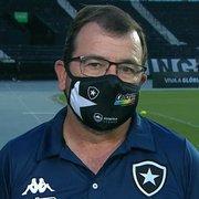 Enderson desabafa e se diz decepcionado com vaias da torcida do Botafogo: 'Quando mais precisamos de apoio, é a hora que menos temos'