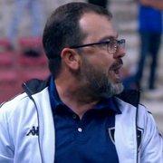 Técnico do Botafogo vê arbitragem como ponto negativo no empate com o Cruzeiro: 'Conseguiu desagradar a todos'