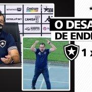 VÍDEO: Enderson faz longo desabafo após discutir com torcedores do Botafogo no Nilton Santos