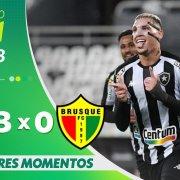 VÍDEO: Gols e melhores momentos da vitória do Botafogo sobre o Brusque no Nilton Santos