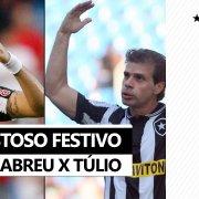 Ídolos em campo! Loco Abreu e Túlio Maravilha convidam torcida do Botafogo para jogo festivo no Nilton Santos 🏟️🤩